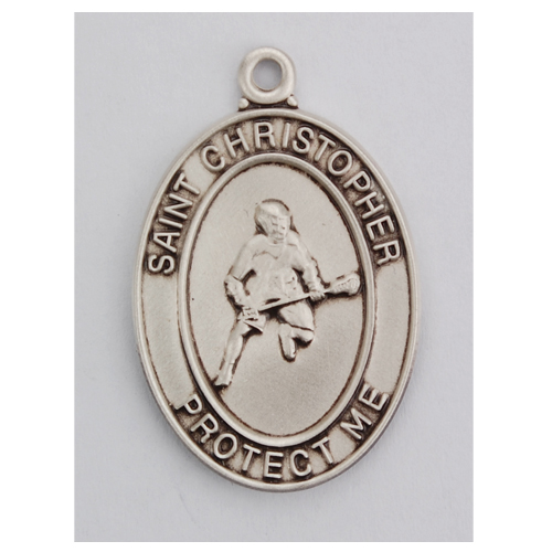 Sterling Silver La Crosse Medal with Chain