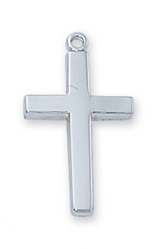 Sterling Silver Cross  18-inch Chain & Box""