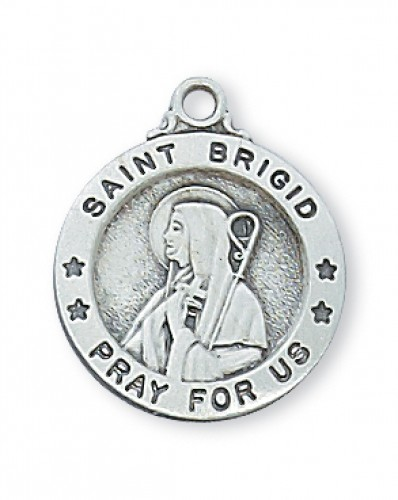 "Sterling Silver Sml St. Brigid with 18"" Chain"