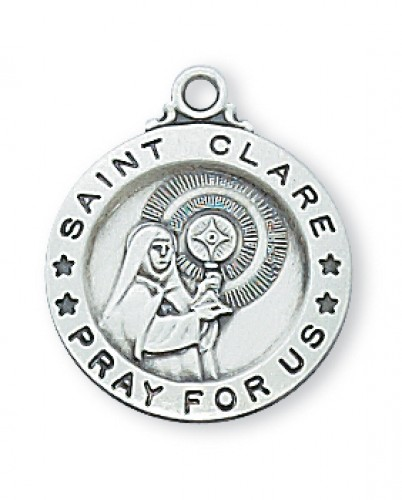 """Sterling Silver St. Clare 18"""" Chain & Box"""