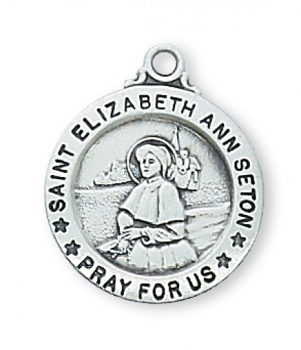 """Sterling Silver  St. Elizabeth Set with 18"""" Chain"""