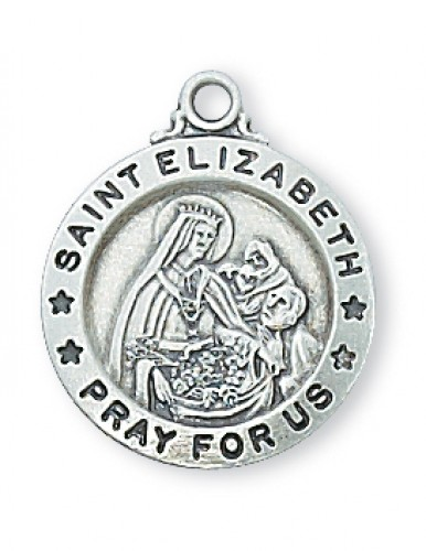 "Sterling Silver St. Elizabeth with 18"" Chain"
