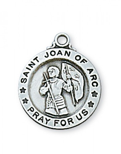 "Sterling Silver Sml St. Joan Arc with 18"" Chain"