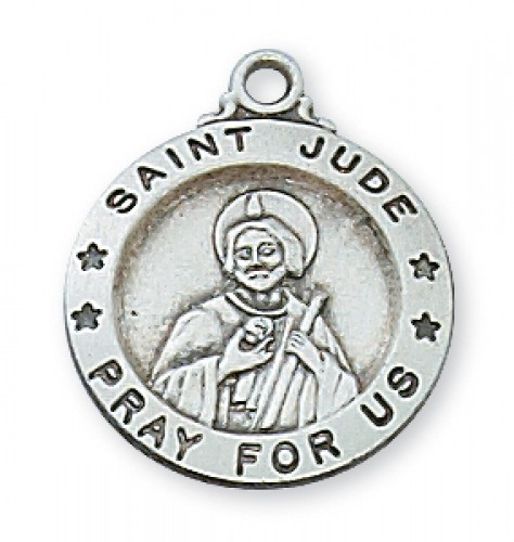 Sterling Silver St. Jude 18' with Chain
