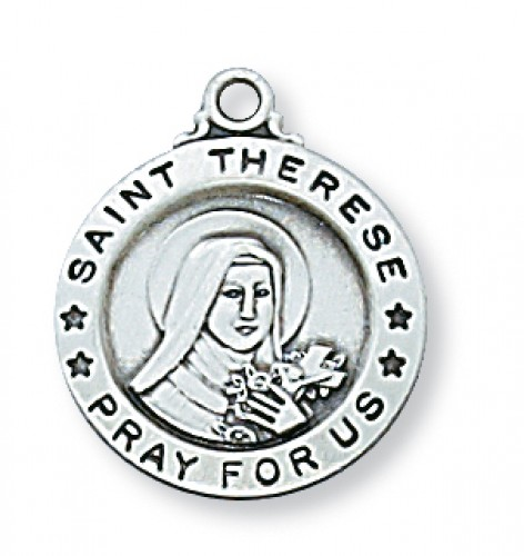 "Sterling Silver St. Therese 18"" Chain"