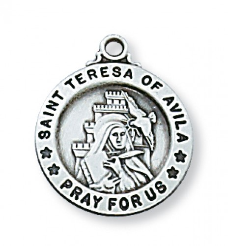 "Sterling Silver Sml St. Teresa with 18"" Chain"