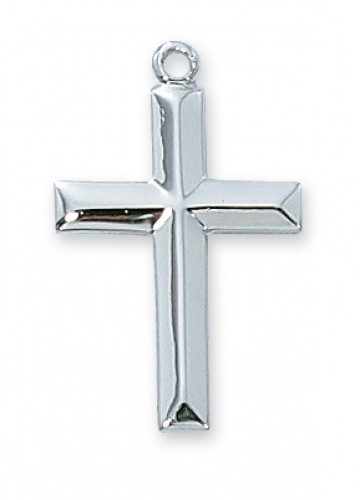"Sterling Cross with 18"" Chain"