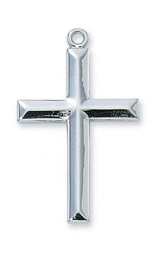 """Sterling Silver Cross with 24"""" Chain"""
