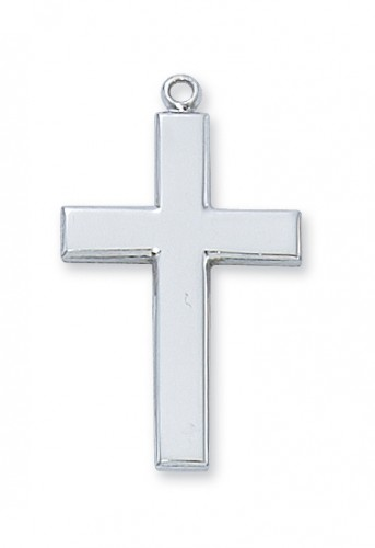 "Sterling Silver Cross with 20""Chain & Box"