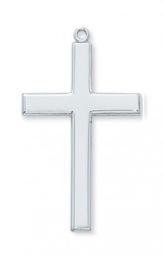 "Sterling Silver Cross with 24"" Chain"