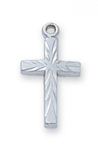 Sterling Silver Cross 16 Ch