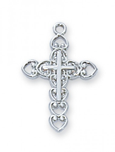 "Sterling Silver Cross 13"" Chain&Bt"