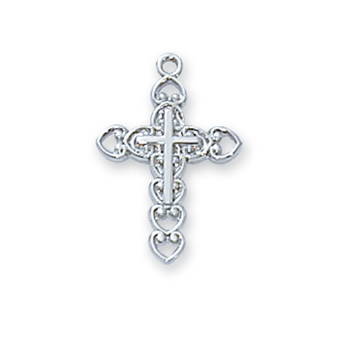 Sterling Silver Cross 16 Ch