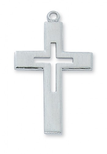 Sterling Silver Cross 24:with Chain