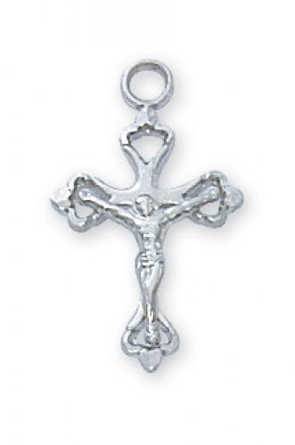"""Sterling Silver Crucifix 16""""Ch"""