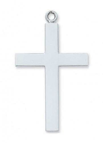 "Sterling Silver Lords Prayer Cross 24"" Chain"""