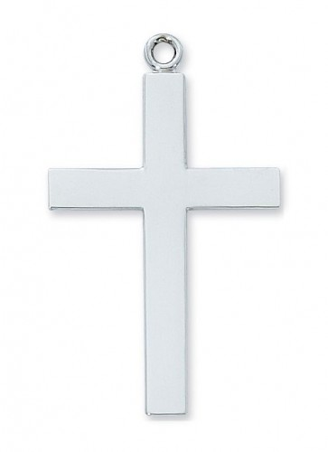 "Sterling Silver Lords Prayer Cross 24"" Chain"""