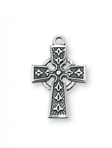 "Sterling Silver Celtic Cross with 16"" Chain"