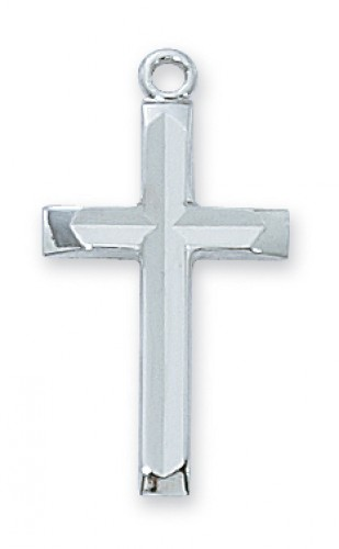 """Sterling Silver Cross with 18"""" Chain"""
