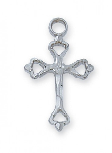 Sterling Silver Small Eng Cross 16 Chain""