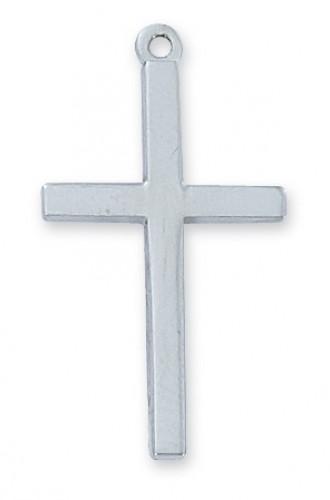 "Sterling Silver Cross 18"" Chain & Box"""