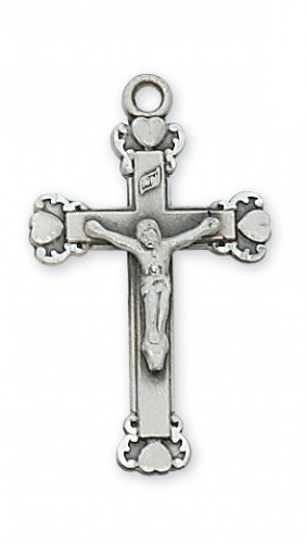 """Sterling Silver Crucifix with 18"""" Chain"""