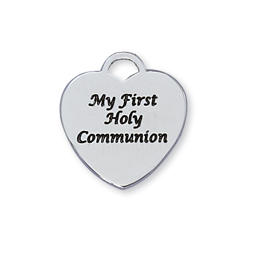 Sterling Silver 1St Communion Heart Pendant