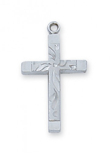 "Sterling Silver Cross  18-inch Chain & Box"""