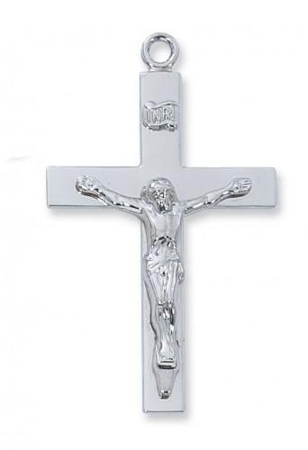"Sterling Silver Lords Prayr Crucifix, 24"" chain &Bx"""