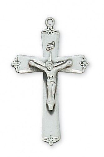 "Sterling Silver Small Crucifix with 18"" Chain"