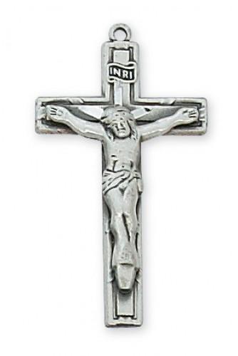 """Sterling Silver Crucifix 18"""" C"""