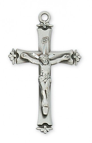 Sterling Silver Crucifix with  18-inch Chain & Box""