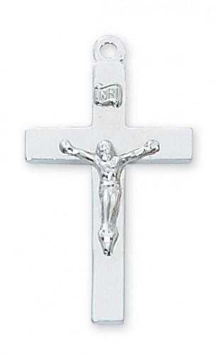 "Sterling Silver Crucifix 20 Chain & Box"""