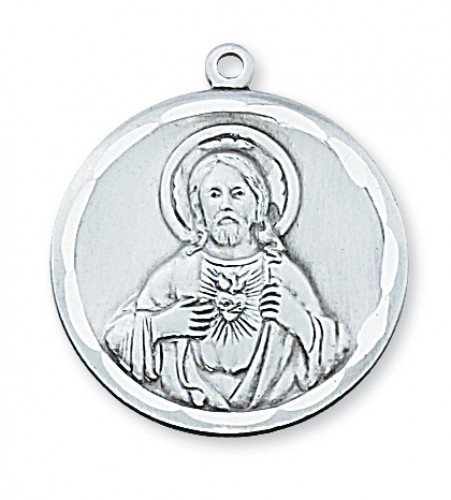 "Sterling Silver Scapular with 24"" Chain"