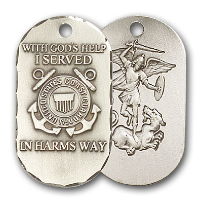 Sterling Silver Coast Guard Pendant