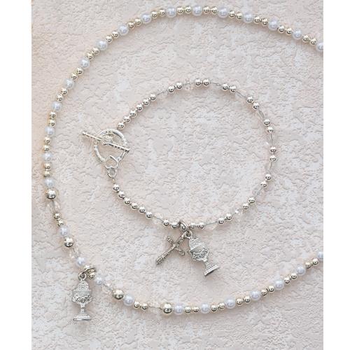 """16"""" Crystal Pend/Bracelet Set"""