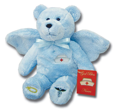 Blue Nurse Angel Holy Bear