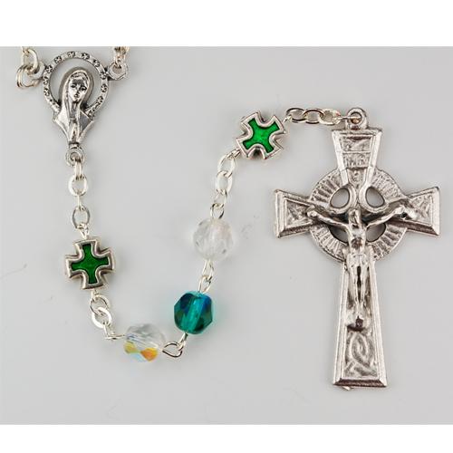 6MM Green Irish Rosary