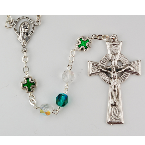 6MM Green Irish Rosary