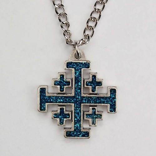 S O Blue Jerusalem Cross Ch/B