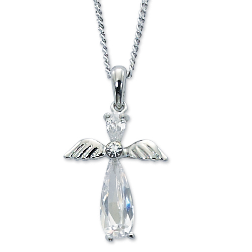 "16"" Crystal Angel Pendant"