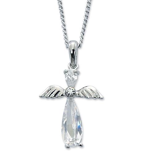 "16"" Crystal Angel Pendant"