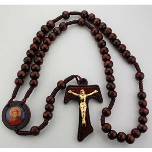 Brown Wood St. Francis Rosary