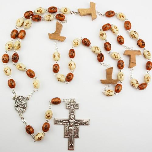 Wood Tau Rosary