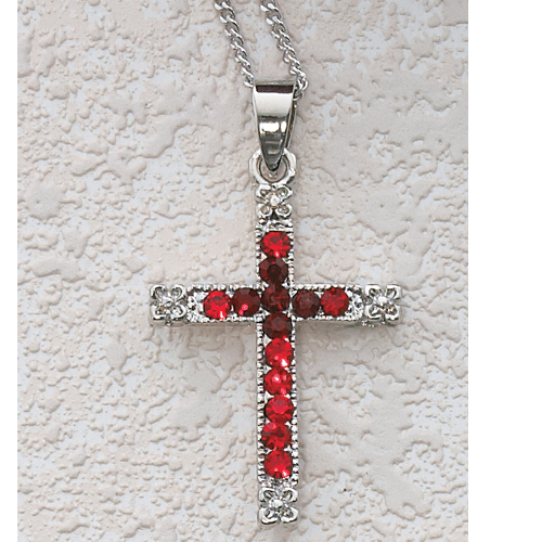 Red Crystal Cross Boxed