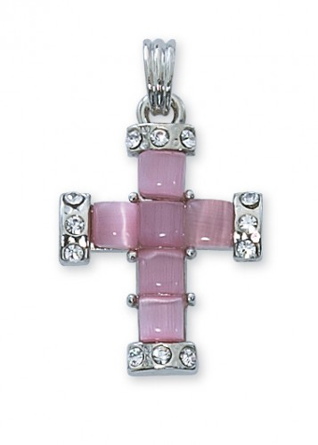 Pink Pearl Cross Boxed