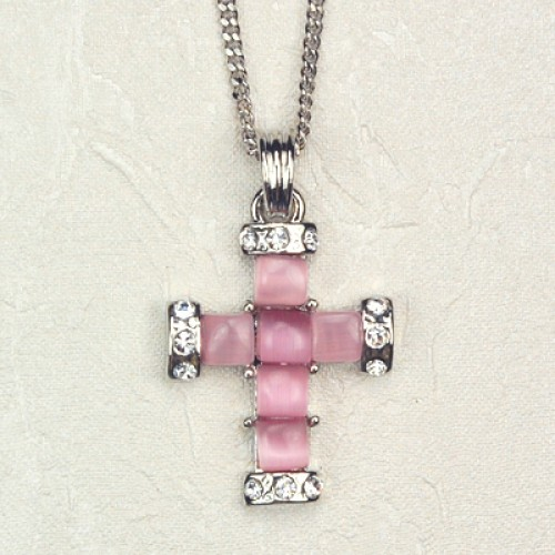 Pink Pearl Cross/Carded