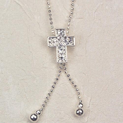"16"" Crystal Stone Cross"