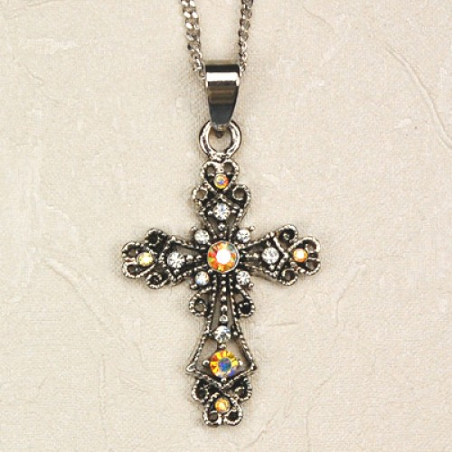 Rhinestone Cross Carded