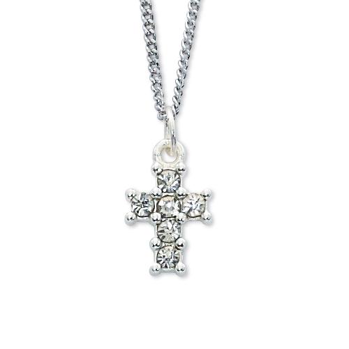 "16"" Crystal Cross Pendant"